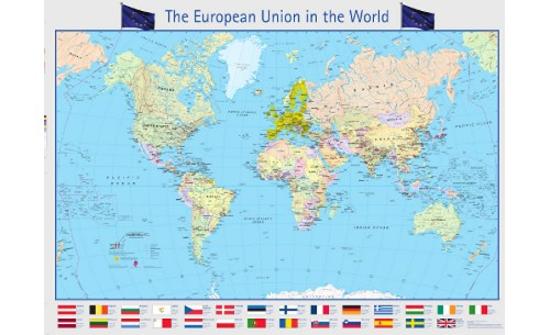 World map in Europe